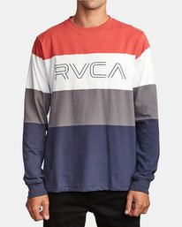 0 Shifty Long Sleeve Knit T-Shirt Red M953VRSL RVCA