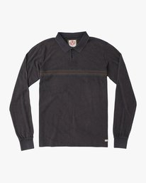 0 Andrew Reynolds Long Sleeve Polo Shirt Grey M954QRAP RVCA