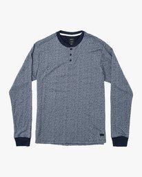 0 Lavish Henley Knit T-Shirt Blue M954VRLH RVCA