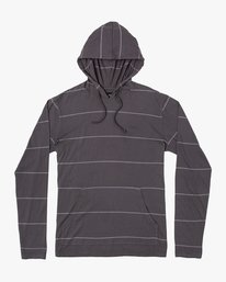 0 PTC STRIPE HOODED LONG SLEEVE TEE Black M9553RPS RVCA