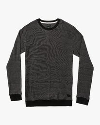 0 Luxury Long Sleeve Knit T-Shirt Black M955VRLC RVCA