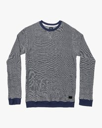 0 Luxury Long Sleeve Knit T-Shirt Blue M955VRLC RVCA