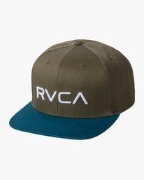 0 RVCA Twill II Snapback Hat Green MAAHWRSB RVCA