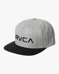 0 RVCA Twill II Snapback Hat Yellow MAAHWRSB RVCA