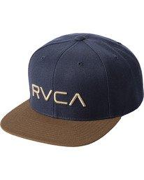 0 RVCA TWILL II SNAPBACK HAT Black MAAHWRSB RVCA