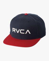 0 RVCA Twill Snapback III Hat Blue MAAHWRSB RVCA