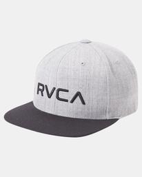5 RVCA Twill II Snapback Hat Green MAAHWRSB RVCA