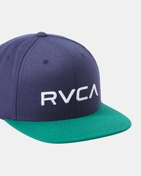 4 RVCA TWILL II SNAPBACK HAT Multicolor MAAHWRSB RVCA