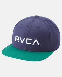 2 RVCA TWILL II SNAPBACK HAT Multicolor MAAHWRSB RVCA