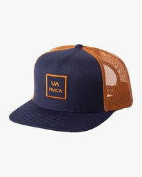 0 VA ALL THE WAY TRUCKER III HAT Blue MAAHWVWY RVCA