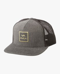 0 VA All The Way Trucker Hat III Grey MAAHWVWY RVCA