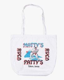 0 Matty's Patty's Tokyo Tote Bag White MABGVRMT RVCA