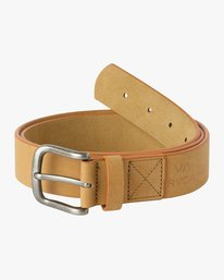 0 Truce Leather Belt Beige MABLQRTL RVCA