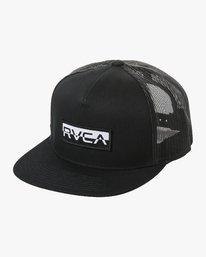 0 RVCA FLIPPED BOX TRUCKER Black MAHW1RBF RVCA