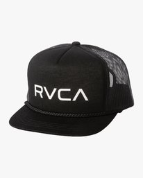 0 RVCA FOAMY TRUCKER HAT Black MAHW1RFT RVCA