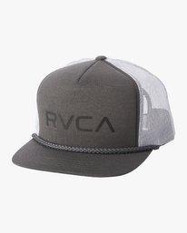 0 RVCA FOAMY TRUCKER HAT Green MAHW1RFT RVCA