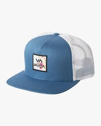 0 VA ALL THE WAY TRUCKER FLORAL Blue MAHW1RVT RVCA