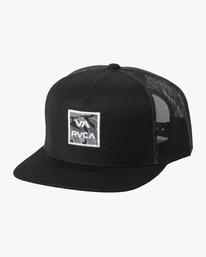 0 VA ATW PRINT TRUCKER HAT Black MAHW3RVP RVCA