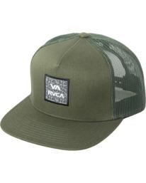 0 VA ATW PRINT TRUCKER HAT Green MAHW3RVP RVCA