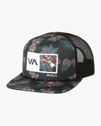 0 ISLANDS BALANCE BOX TRUCKER HAT  MAHWMRIB RVCA