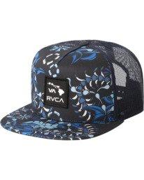 0 Island Patch Trucker Hat Blue MAHWNRIP RVCA