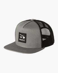 0 Island Patch Trucker Hat Grey MAHWNRIP RVCA