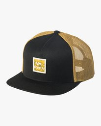 0 VA All The Way Printed Trucker Hat Black MAHWQRTP RVCA