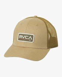 0 Ticket Trucker II Hat Beige MAHWQRTT RVCA