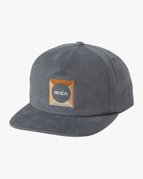 0 Cut Out Snapback Hat Blue MAHWTRCO RVCA