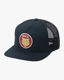 0 Dmote Tiger Patch Trucker Hat Blue MAHWTRTP RVCA
