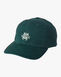 0 Crest Strapback Hat Grey MAHWURCC RVCA