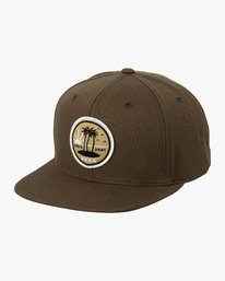 0 Tropics Snapback Hat Brown MAHWURRT RVCA