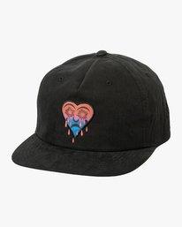 0 T Whitehead Snapback Hat Black MAHWURTW RVCA