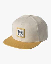 0 Den Snapback Hat Grey MAHWVRDS RVCA