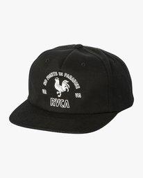 0 Paradise Snapback Hat Black MAHWVRPA RVCA