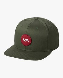 0 VA PATCH SNAPBACK HAT Green MAHWVRVP RVCA