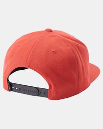 3 VA Patch Snapback Hat Red MAHWVRVP RVCA