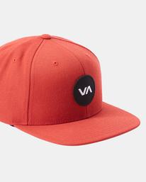 4 VA Patch Snapback Hat Red MAHWVRVP RVCA