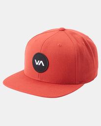 2 VA Patch Snapback Hat Red MAHWVRVP RVCA