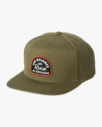 0 Contrast Snapback Hat Green MAHWWRCN RVCA