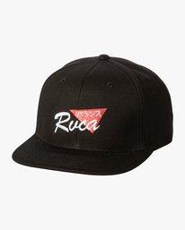 0 Chiba Snapback Hat Black MAHWWRCS RVCA