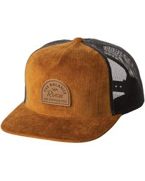0 Monolith Trucker Hat Brown MAHWWRMT RVCA