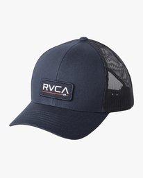 0 TICKET III TRUCKER HAT Blue MAHWWRTT RVCA