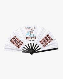 0 Matty's Patty's Tokyo Folding Fan White MAMCVRMF RVCA