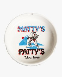 0 Matty's Patty's Tokyo Ceramic Ashtray White MAMCVRMT RVCA