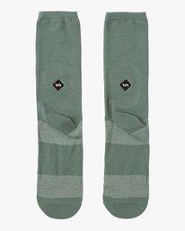 0 Pigment Crew Socks Green MASOQRPM RVCA