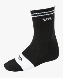 0 Union Skate Crew Socks Black MASOTRUK RVCA