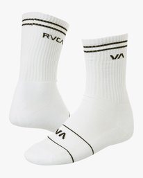 0 Union Skate Crew Socks White MASOTRUK RVCA