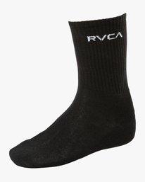 0 Union Square Crew Socks Black MASOTRUS RVCA