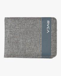 0 Leeward Bi-Fold Wallet Grey MAWAQRLW RVCA